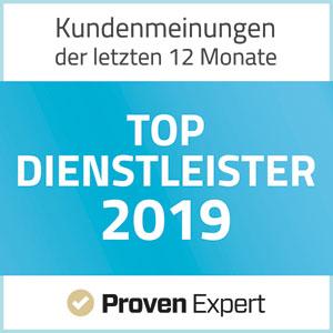 ProvenExpert TOP Dienstleister 2019