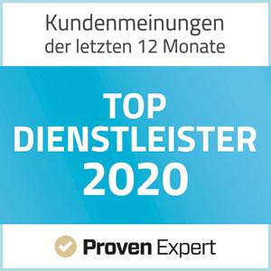 ProvenExpert TOP Dienstleister 2020