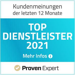 ProvenExpert TOP Dienstleister 2021