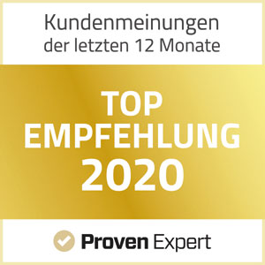 ProvenExpert TOP Empfehlung 2020