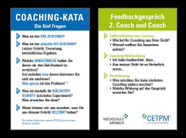 """KATA-Coaching-Karte - Feedbackgespräch """"Sie""""-Version"""