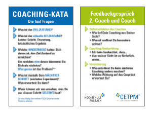 "KATA-Coaching-Karte - Feedbackgespräch ""Du""-Version"