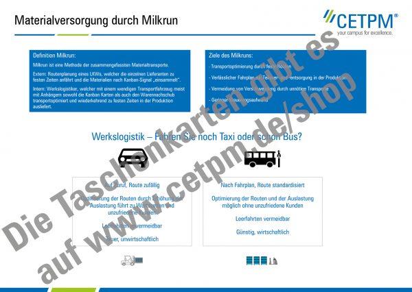 Taschenkarte T10: Milkrun