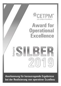 CETPM Award für Operational Excellence Silber
