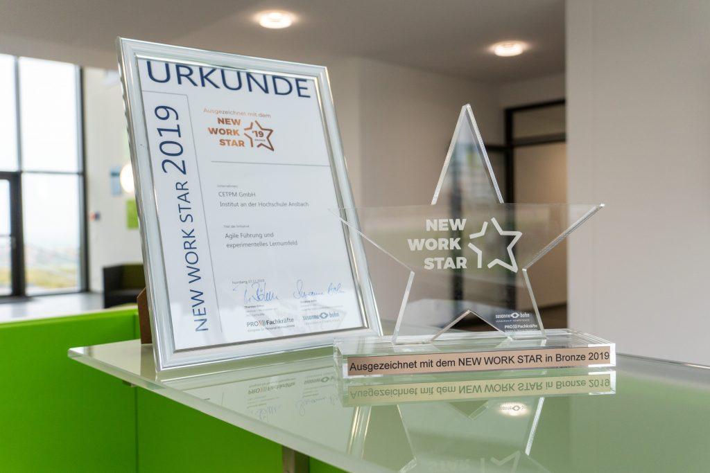 CETPM New Work Star Award Gewonnen 2019