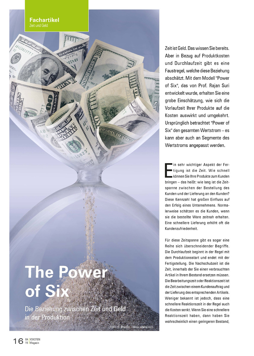The Power of Six - Artikel aus Fachmagazin YOKOTEN 2019-04